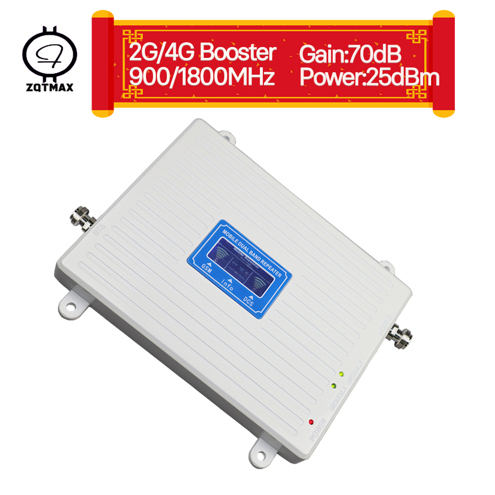 ZQTMAX 2g 4g Repeater Gsm Mobile Signal Booste 900 1800 (Band 3) LTE Cellular Amplifier Dual Band