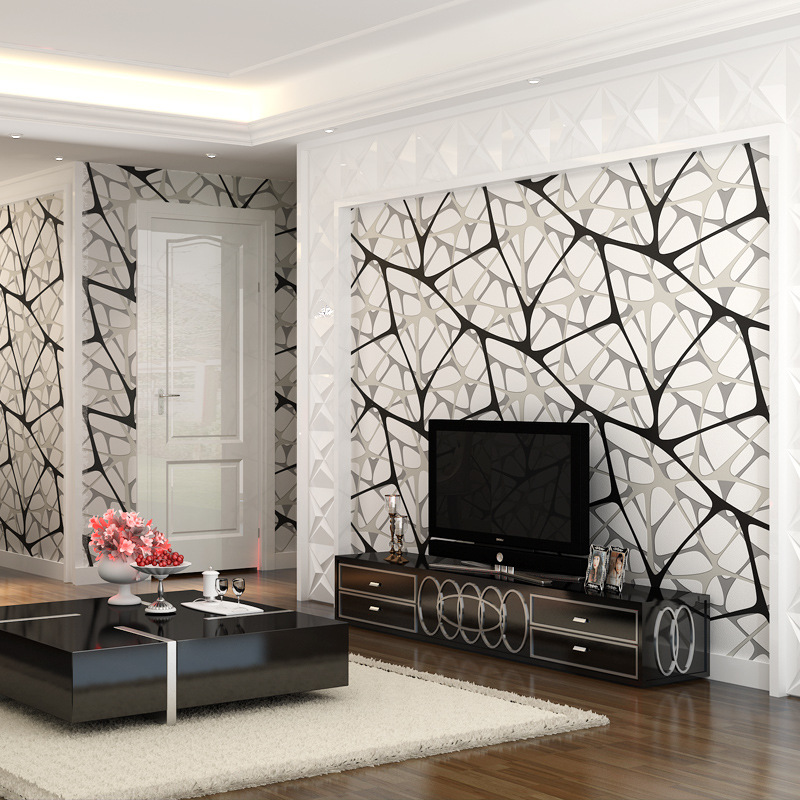 Living Room Wall Papers Part - 49: Aliexpress.com : Buy Beibehang Bird U0027s Nest Geometric Patterns Wallpaper  For Living Room Wall Papers Home Decor Bedroom Home Decoration 3D Flooring  From ...