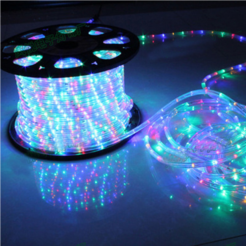 Waterproof Rainbow Tube Rope Led Strip Christmas Light Outdoors Holiday Decoration Lights 2M-20M AC220V IP65  Led Rgb	Strip