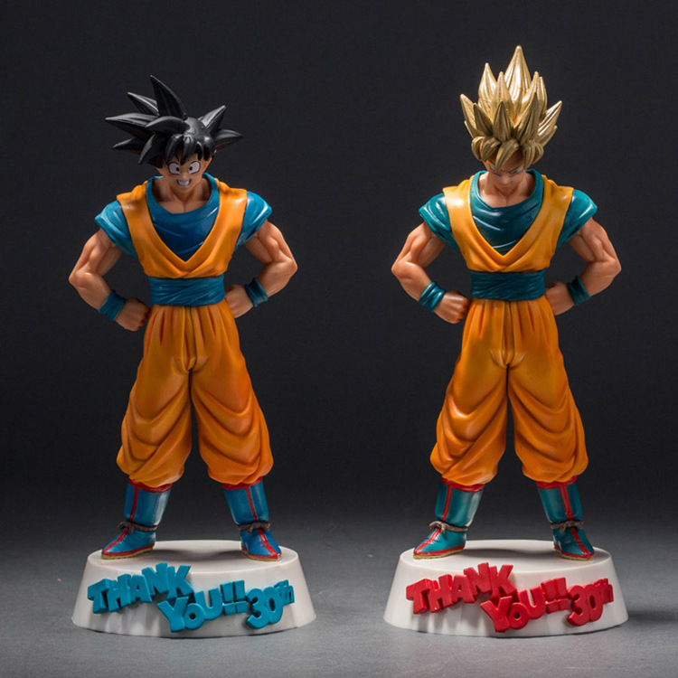 Hot ! NEW 26cm 30th dragonball dragon ball Super Saiyan God Son Goku Kakarotto action figure toys Christmas doll toy anime dragon ball super saiyan 3 son gokou pvc action figure collectible model toy 18cm kt2841