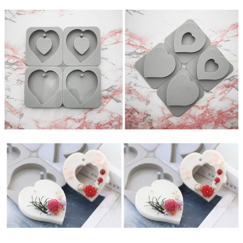 DIY Aromatherapy Wax Silicone Mold Soap Flower Candle Mould Clay Crafts Gifts Decoration Ornaments Aromatherapy Tablets Molds