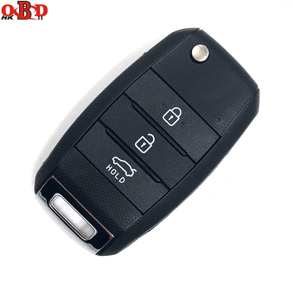 HKOBDII New Folding Flip Remote Car Key Fob Keyless Entry 3 Button 433Mhz With 70 Chip For K3