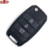 HKOBDII New Folding Flip Remote Car Key Fob Keyless Entry 3 Button 433Mhz With 70 Chip For K3