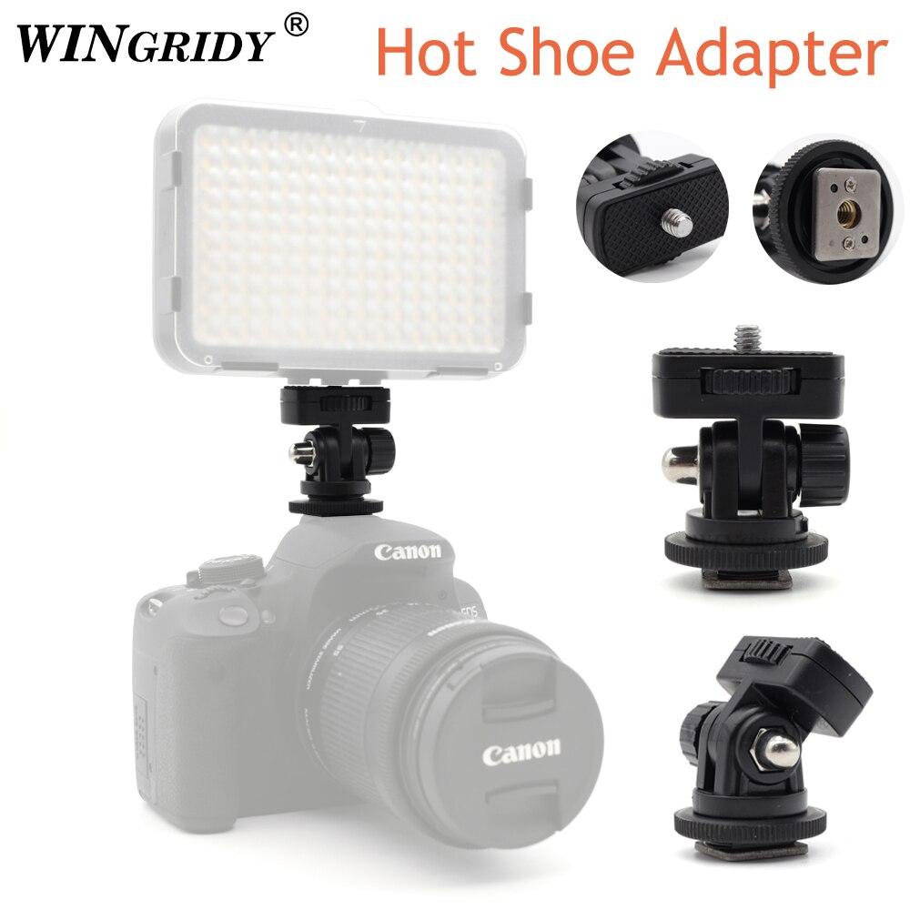 WINGRIDY Profession 1/4 vis adaptateur de montage de chaussure chaude pôle d'angle réglable pour appareil photo reflex numérique Canon Nikon Flash moniteur de lumière LED