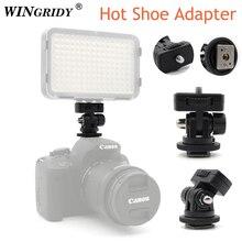 """Винтовое крепление WINGRIDY Professional 1/4 """", адаптер для горячего башмака, регулируемый угол для DSLR камеры, Canon, Nikon, светодиодный светильник, монитор"""
