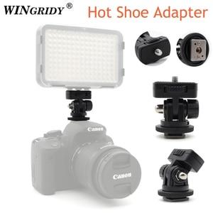 """Image 1 - Винтовое крепление WINGRIDY Professional 1/4 """", адаптер для горячего башмака, регулируемый угол для DSLR камеры, Canon, Nikon, светодиодный светильник, монитор"""