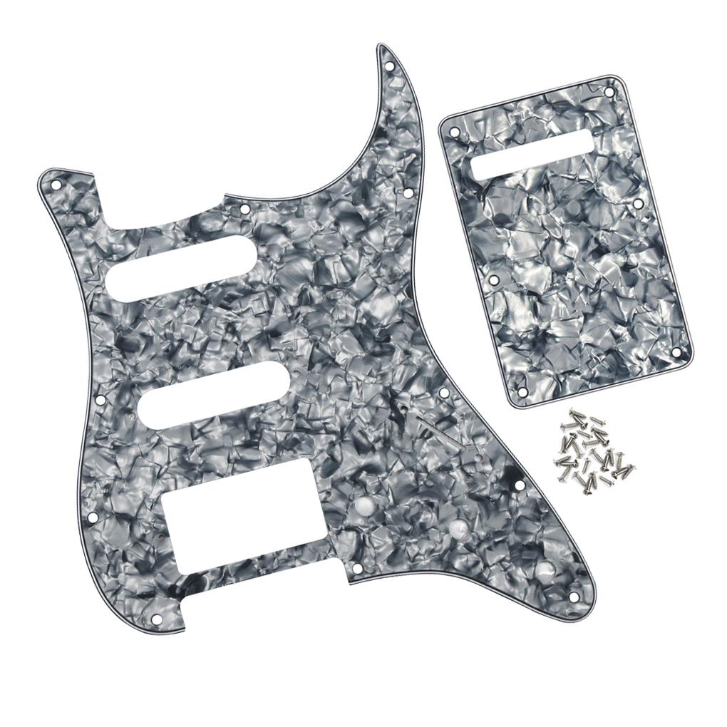 Guitar Parts & Accessories grey Pearl Preventing Hairs From Graying And Helpful To Retain Complexion Stringed Instruments 4ply Electric Guitar Pickguard Scratch Plate Ssh & Back Plate W/screws For Fd St Strat Guitar Style Parts