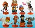 8pcs/set new Japanese PVC anime figure doll one piece Luffy Sauron Sanji Halloween All Saints' Day gift toy 8CM free shipping