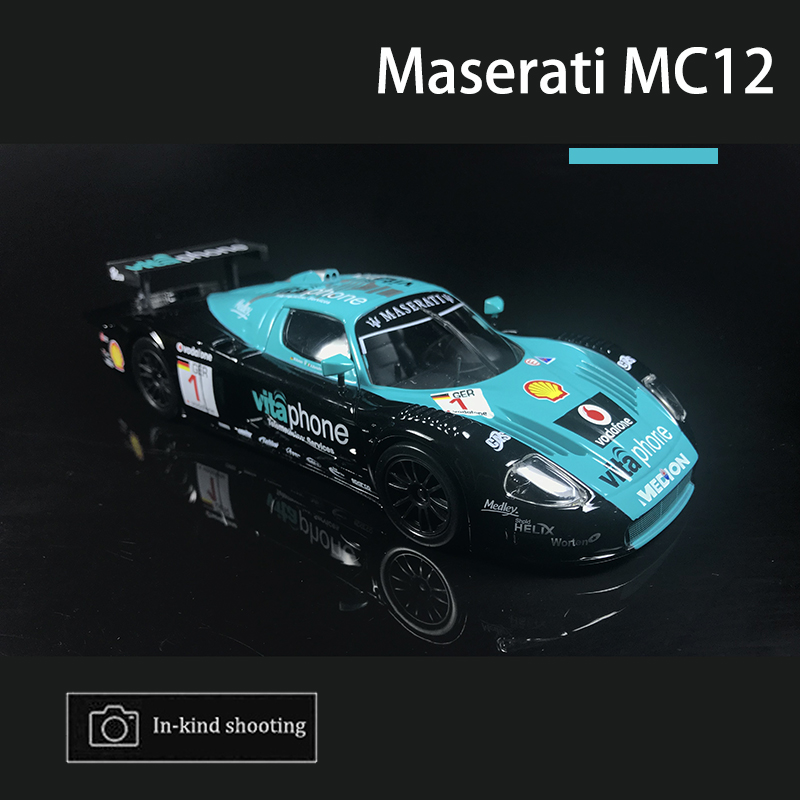 Car Model 1:24 Maserati MC12 Sports Car Alloy Metal Body Diecast Simulation Model for Collection with Orginal Gift Box Kids Toys
