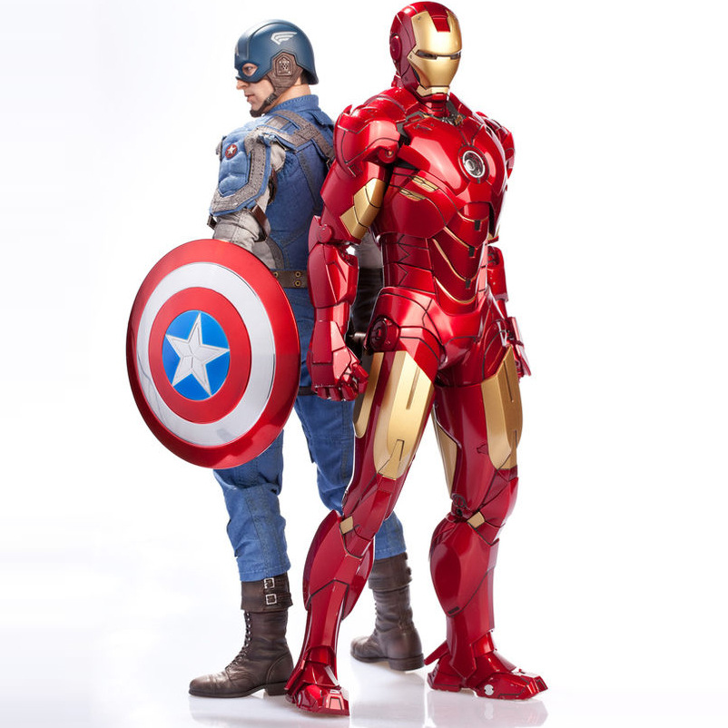 Avengers Alliance Captain America:Civil War Action Figure Toy Iron Man Ant Man Model Car Furnishing Articles Holiday Gifts 18cm 1 6 scale male head sculpts model toys downey jr iron man 3 captain america civil war tony with neck sets mk45 model collecti f