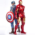 Avengers Alliance Captain America:Civil War Action Figure Toy Iron Man Ant Man Model Car Furnishing Articles Holiday Gifts 18cm