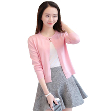 cardigan dress female Korean version of the new short sleeved sweater slim color shawl a sunscreen thin air conditioner