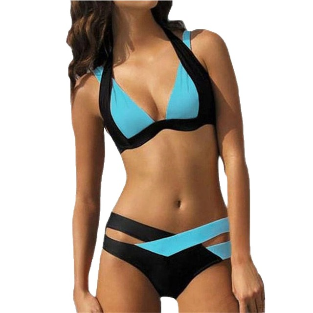 20fe5108e1f4 2018 New Mix color sexy two piece adjust bust Summer Style Bikini Set Push Up  Swimsuits