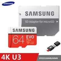 SAMSUNG EVO Plus karta pamięci 8 GB/32 GB/SDHC 64 GB/128 GB/256 GB /SDXC Micro karta SD TF Class10 Microsd C10 UHS-1 karty 100% oryginalny