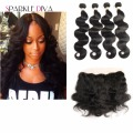 Grade 8A Brazilian Body Wave Hair With Closure 5PCS Stema Hair With Frontal Closure  Mink Brazilian hair with closure