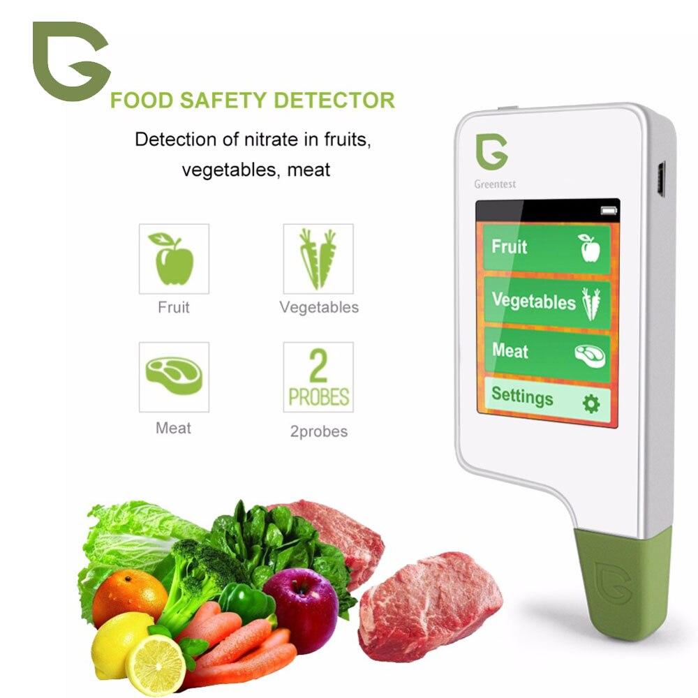 Greentest 2 digital testador de nitrato de alimentos medidores concentração frutas vegetais analisadores de carne saúde detector ambiental