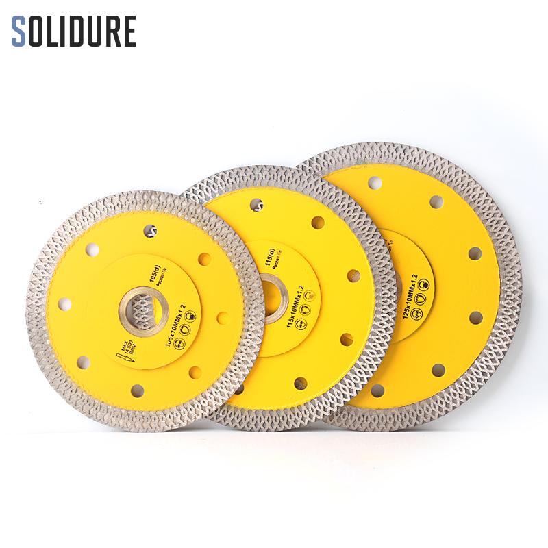 105/115mm/125mm Super Thin X Shape Diamond Porcelain Saw Blade Hot Sintered Diamond Circular Disc For Cutting Porcelain Tiles