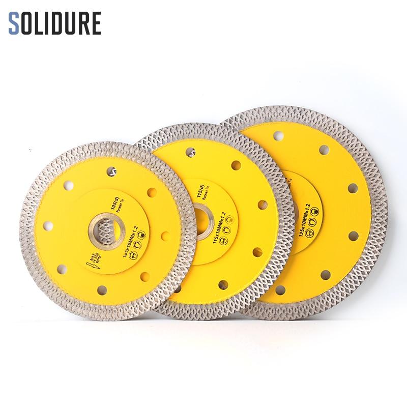 105/115mm/125mm Super Thin X Shape Diamond Porcelain Saw Blade Hot Sintered Diamond Circular Disc For Cutting Porcelain Tiles