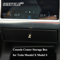 1pc SEEYULE Car Center Console Storage Box Bag Organizer Accessories For Tesla Model X Model S
