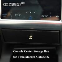 1pc SEEYULE Car Center Console Storage Box Bag Organizer Accessories For Tesla Model X Model S