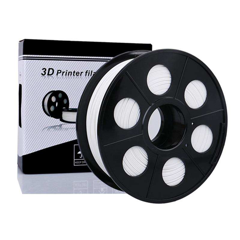3D Printer PLA Plastic Filament 1.75mm Poly Lactic Acid corn starch 1kg Reel for 3D Printing No bubble About 350m White