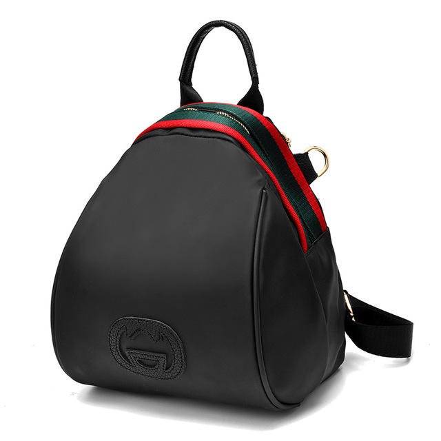 2017 Women Oxford Cloth Backpack, Colorful Zipper Multi-function Ladies Bag Fashion Girls School Backpack Black Bag Women