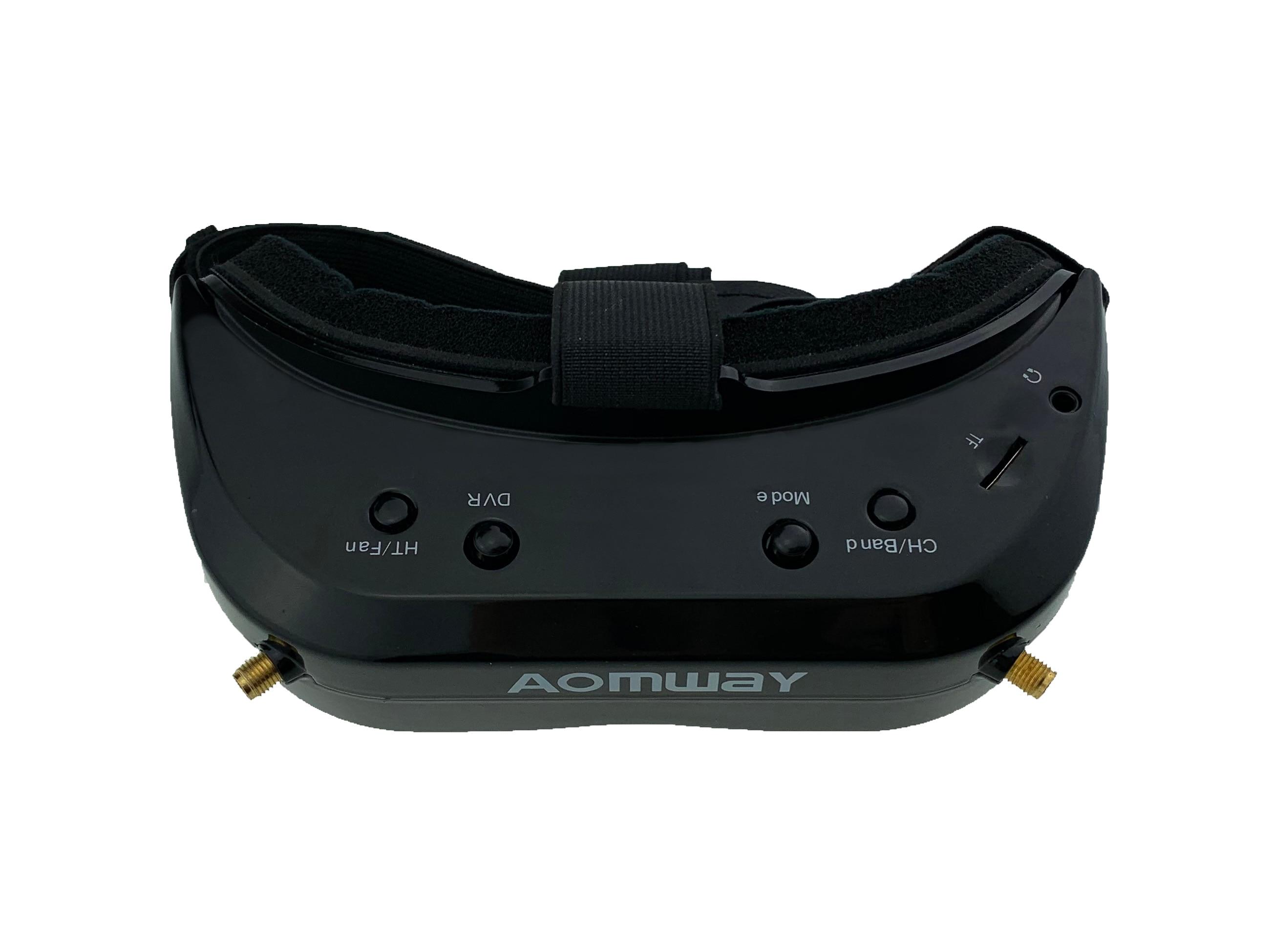 AOMWAY Commander V1S FPV lunettes 5.8Ghz 64CH diversité 3D HDMI intégré DVR ventilateur soutien tête suivi pour RC course Drone - 5