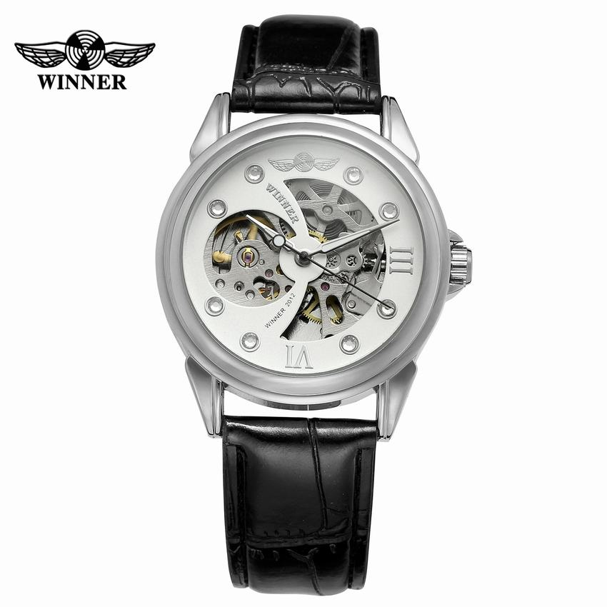 2018 Herrenmode Automatische Mechanische Uhr Leder Luxusmarke Sport Skeleton Designer Uhren Relogio Masculino Uhr