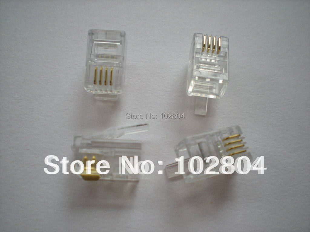 Modular Plug Telephone Net Lan Connector Cat 3 4p4c 1000 Pcs Per Lot Wiring Block In Connectors From Lights Lighting On Alibaba Group