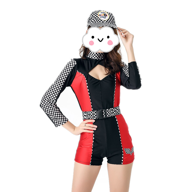 Back To Search Resultsnovelty & Special Use Costumes & Accessories Buy Cheap High Quality Racing Driver Auto Salon Girls Costume Sexy Shorts Design Uniform Car Club Wear Suit Stage Party Racing Jumpsuit
