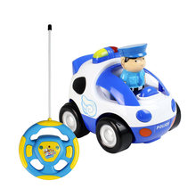 RC Car Cartoon Race Little Cars Music Lights Electric Radio Control Toy for Baby Toddlers Kids Children(China)