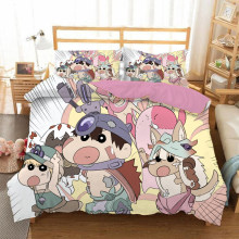 Crayon Shinchan 3D bedding set Duvet Covers Pillowcases anime Crayon Shinchan comforter bedding sets bedclothes bed linen(China)