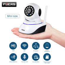 FUERS 1080p camera HD Network CCTV Wifi Wireless Home security IP camera security surveillance camera Night Vision baby monitor 360 mini ip camera wifi 1080p full hd wireless cctv camera store home security one key alarm infrared night vision baby monitor