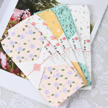 10 unidades/pacote kawaii olá plantas envelope carta papel cartão de mensagem envelope carta envelopes escritório escola fornecimento