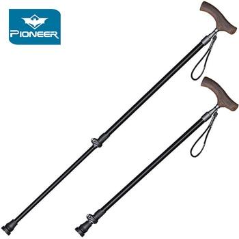 dacedd7a8 Plegable 2 telescópico postes Trekking de aleación de aluminio de 7075  bastones de Trekking senderismo bastón ligero para ancianos