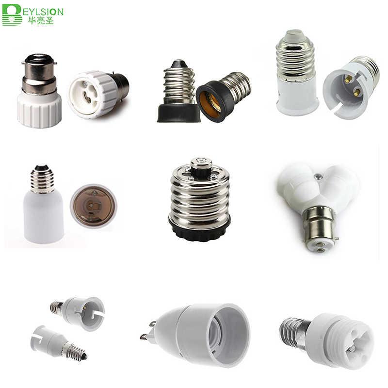 BEYLSION E27 B22 G9 E14 GU10 E40 LED Socket adapter Lamp Holder lamp base Retardant Plastic bulb socket base lamp holder 1piece