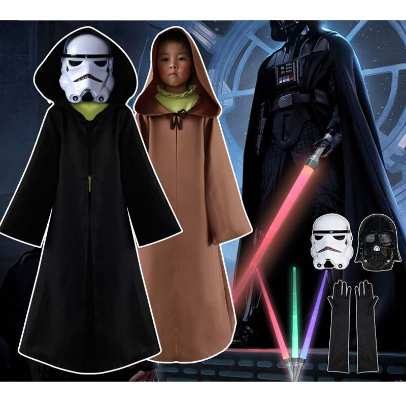 1b93ccfed2f6d 2018 Nouveau Darth Vader (Anakin Skywalker) Star Wars Darth Vader Costume  Costume Enfants Film Costume Pour Halloween Party Cosplay ponchos