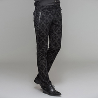 Devil Fashion Gothic Men Lace Up Casual Pants Steampunk Men S Spring Autumn Black Long Trousers