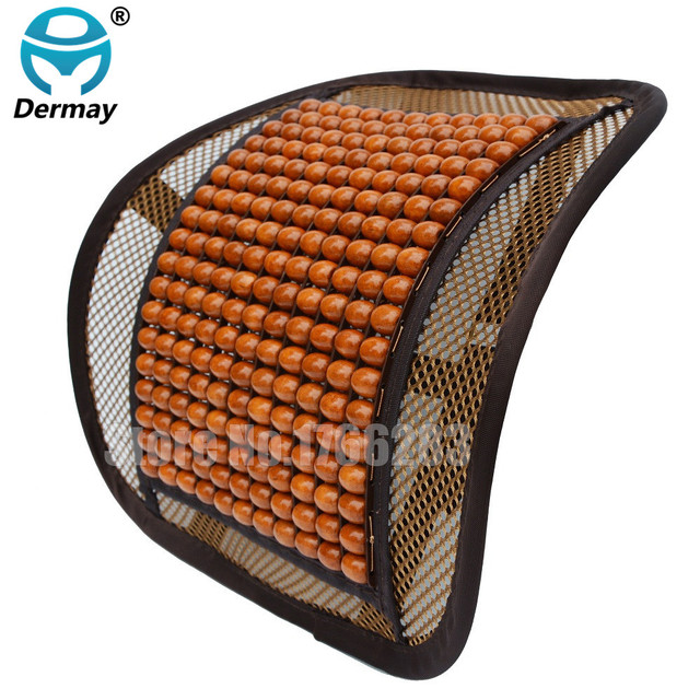 high quality luxury wooden bead seat back lumbar support cushion for