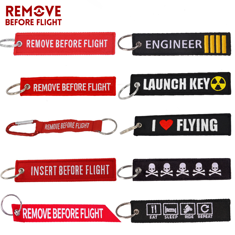 Remove Before Flight Key Chain for Motorcycles Scooters and Cars Key Fobs OEM <font><b>Keychain</b></font> Jewelry Aviation Gift Car Keychains <font><b>3</b></font> PCS image