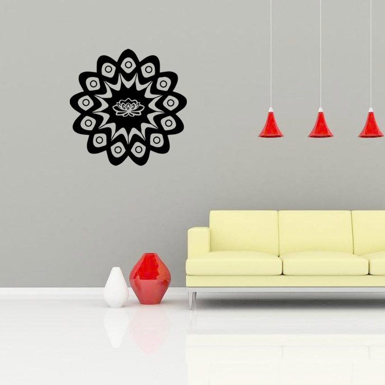 new design yoga mandala wall stickers home decor vinyl indian buddhist art deco wall decals creative - Wall Vinyl Designs