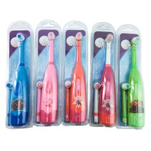Escova de dentes elétrica infantil, padrão de desenhos animados, tipo cabeça, escova de dentes, para crianças, jovens