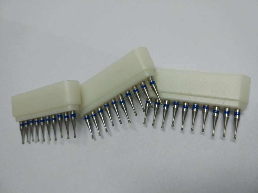 100 יח'\חבילה RA/RC שיניים מעבדה יהלומי Burs קליני רופא שיניים כרסום כלים ידית מהירות נמוכה Burs תרגיל 2.35mm