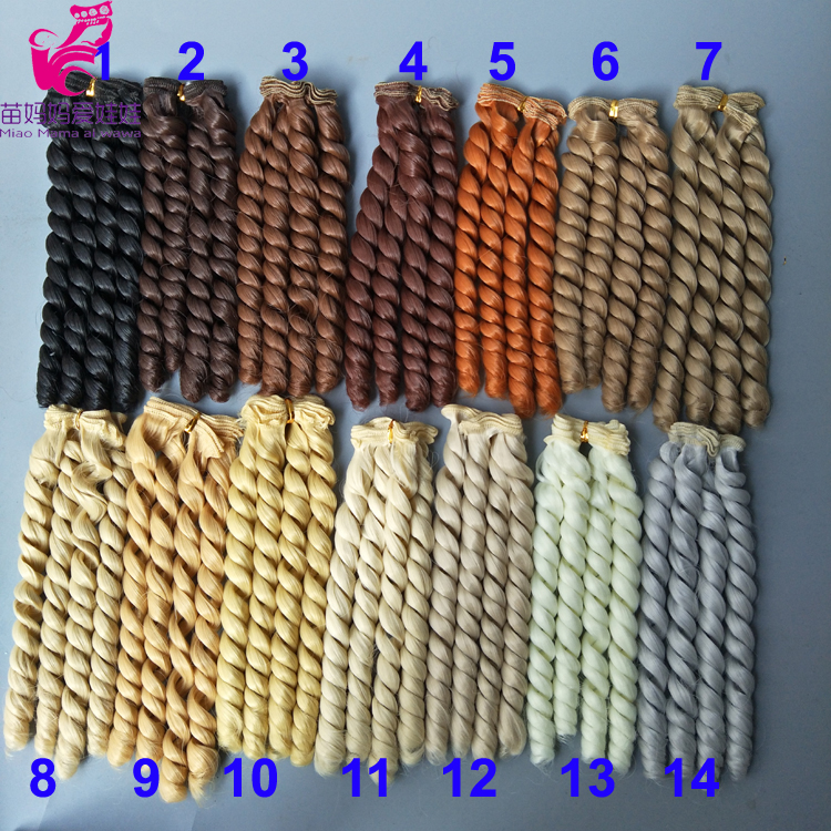 20 Cm High Temperature Heat Resistant Doll Wavy Hair For 1/3 1/4 1/6 BJD Diy Curly Doll Wigs Tree
