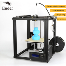 2017 Hot Ender-4 3D printer Laser Engraving, Large print size 220*220*300mm Auto Leveling,Filament Monitoring Alarm Protection