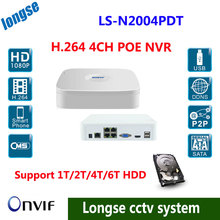 Free shipping by DHL ,Full HD 1080P CCTV POE NVR, 4CH NVR For IP Camera ONVIF H.264 NVR