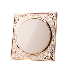 Champagne gold round 86 concealed wall bedside switch socket panel 1 Gang multi-control