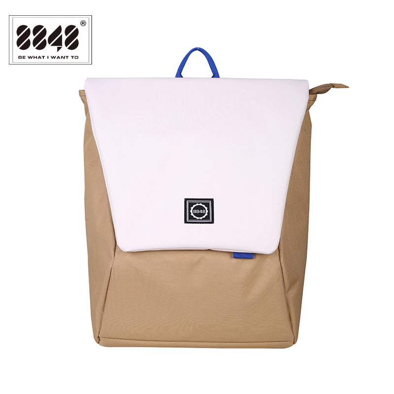 цены 8848 Preppy Style Men's Backpacks Waterproof School Bag Large Capacity Laptop Bags Men Rucksack New Flip Bag Mochila 126-048-003