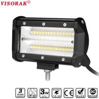 VISORAK Super Flood 5 Inch LED Light Bar 12V 24V 84W LED Strip Bar For Jeep