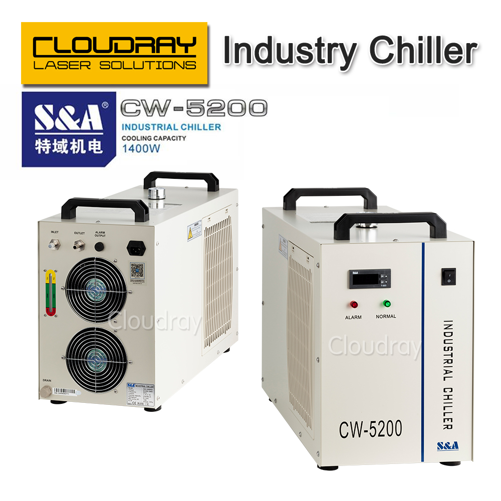 S&A CW5200 Industry Air Water Chiller  for CO2 Laser Engraving Cutting Machine Cooling 150W Laser Tube co2 laser cutting machine industry water cooling machine for brazil cw 5000 bg 220v 60hz 100w laser chiller